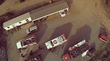 Команда  тестирует голландский грузовик MAN