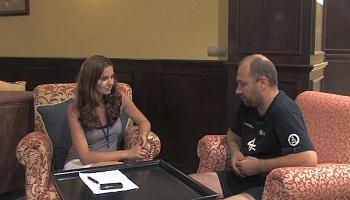 Interview mit Vojtech Stajf nach dem Rallye-Finish