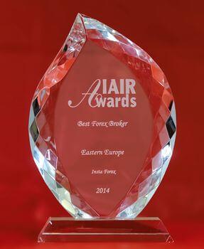 «Meilleur Broker de l'Europe de l'Est 2014» selon IAIR Awards
