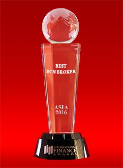 Лучший ECN-брокер Азии 2016 года по версии International Finance Awards