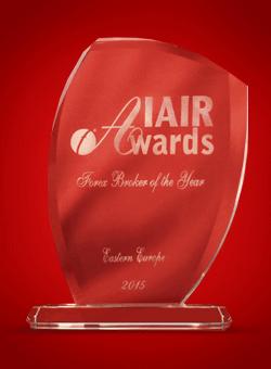 Najlepší forexový broker vo východnej Európe 2015 od IAIR Awards