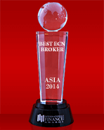 Best ECN Broker in Asia 2014 by International Finance Magazine