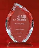 Najbolji Forex broker Istočne Evrope u 2014. godini od IAIR Nagrada