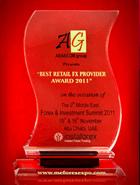 Samit o Forex-u i investiranju 2011 - Nagrada za najboljeg maloprodajnog FX provajdera u 2011. godini