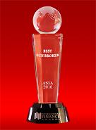 Best ECN Broker in Asia 2016 by International Finance Awards