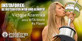 Il volto della compagnia InstaForex — la leader del tennis mondiale Viktoria Azarenko