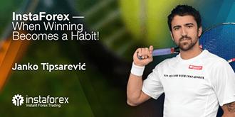 Een van de beste tennissers Janko Tipsarevi joint InstaForex